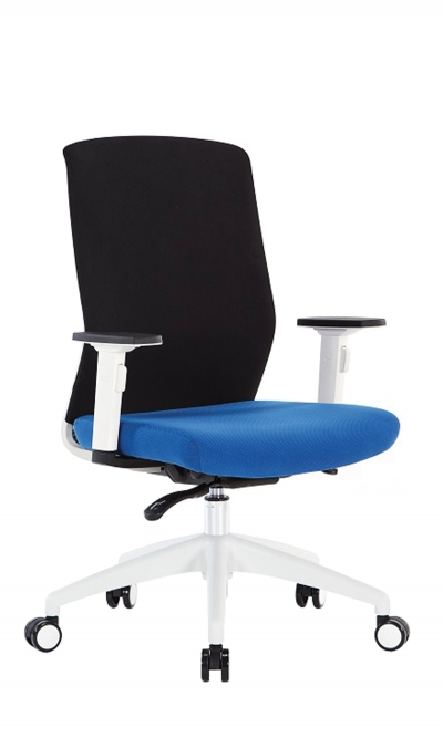 UBISE OFFICEPRO, Your Supplier Of Office Chairs, Seats And Accessories    SCOTT TISSU CORPS BLANC   Synchronous Office Chair In Fabric